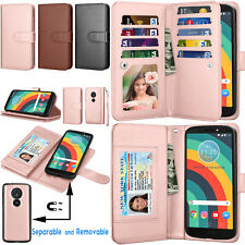 For Motorola Moto G6 Play/Forge/XT1922 Phone Wallet Card Flip Stand Strap Case