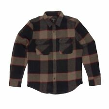 Brixton Bowery Long Sleeved Flannel Shirt - Heather Grey/Charcoal