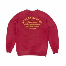 Deus Ex Machina Sunbleached Impermanence Crew Sweatshirt - Rumba Red