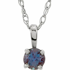 Sterling Silver Imitation Birthstone Youth/Child Necklaces