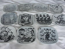 BJORN WIINBLAD NEW YEAR WALL PLATE  NYMOLLE FROM 1970 1988