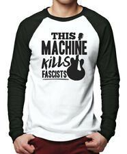 This Machine Kills Fascists guitar Men Baseball Top guitarist activism politics