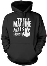 This Machine Kills Fascists - guitar Unisex Hoodie guitarist activism political