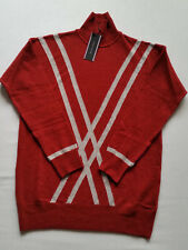 Tommy Hilfiger Jersey Mujer 100% Lana Rojo Oscuro/GRIS Talla: Xs / S, S / M,M /
