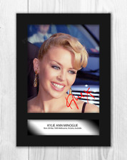 Kylie Minogue (1) A4 signed mounted picture poster. Choice of frame.