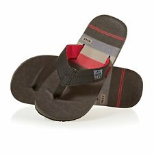 Reef Ht Prints Homme Chaussures Tongs - Black/red/stripes Toutes Tailles