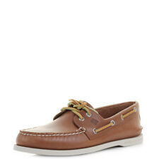 Mens Sperry Authentic Original A/O 2-Eye Tan Leather Boat Shoes Size