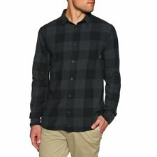 Quiksilver Motherfly Flannel Mens Shirt Long Sleeve - Black Check All Sizes
