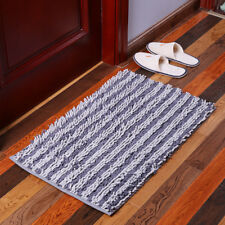 Colorful Chenille Striped Rectangle Fluffy Floor Carpet Cover Mat Area Rug