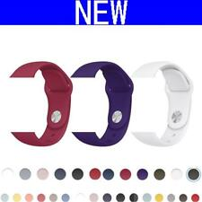 CRESTED New Sport silicone strap band For Apple Watch 42mm 38mm black Bracelet S