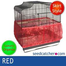 ORGANZA RED Bird Cage Seed Catcher Guard Tidy Skirt Style