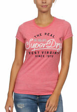 Superdry Damen T-Shirt WESTERN ROPE Sun Bleached Red Snowy