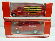 (2 Choices)1937 or 1947 Bottle Truck,Red-Motor City Coca-Cola HO-1/87  Diecast