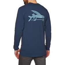 Patagonia Flying Fish Responsibili-tee Mens T-shirt Long Sleeve - Classic Navy