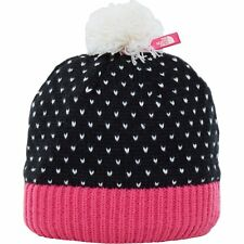 North Face Pom Kids Headwear Beanie Hat - Tnf Black Petticoat Pink Vintage White