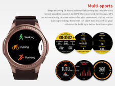 GPS Compass Altitude Blood Pressure Heart Rate Monitor Bluetooth Smart Watch