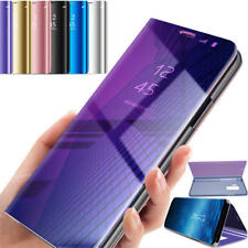 Case Cover For  Samsung Galaxy S7 S8+ S9 Smart View Mirror Wallet Leather Flip