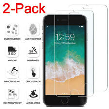 For iPhone X SE 5S 5 6 7 8 Plus 2Pcs Protective Tempered Glass Screen Protector