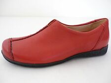 Highlander Donna Scarpe Basse 37,5 38 38,5 Rosso pelle For Woman Nuovo