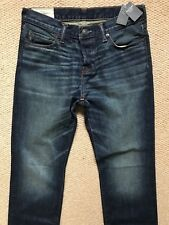 """ABERCROMBIE & FITCH DARK BLUE DROIT BOOTCUT FIT JEANS  - 30"""" x 32"""" - NEW & TAGS"""