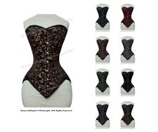 26 Double Steel Boned Strong Waist Training BROCADE OVERBUST Tight Shaper Corset