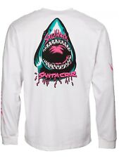 Camiseta de manga larga niño Santa Cruz Speed Wheels Shark Blanco