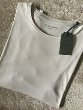 """S /& L ALL SAINTS MEN/'S ASH GREY /""""OCCUPY/"""" THIN S//S CREW T-SHIRT TOP NEW TAGS"""