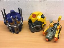 TRANSFORMERS VOICE CHANGER HELMET OPTIMUS PRIME BUMBLEBEE AND CANNON YOU CHOOSE