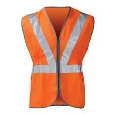 Mens High Visibility Hi Vis Viz Rail Safety Waistcoat GO/RT Zip Vest Jacket BNWT