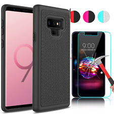 For Samsung Galaxy Note 9 Hard Phone Case Cover +Tempered Glass Screen Protector