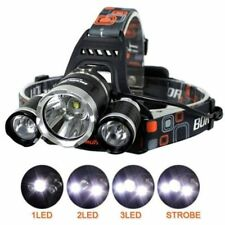 3LED 6000 Lm Lumens 3XM-L CREE T6  Rechargeable Head Torch Headlamp Lamp Light