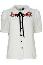 Joanie Embroidered June Blouse in White
