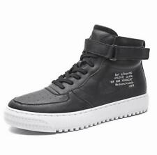 Mens High Top Leather Skate Shoes Trainer Lace Up Clasp Casual Athletic Sneakers