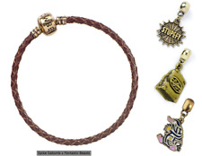 OFFICIAL FANTASTIC BEASTS BROWN CHARM BRACELET with ONE CHARM (NEW)