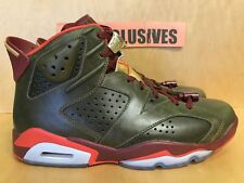 Nike Air Jordan Vi Rétro 6 Sigaro Raw Umber / Squadra Red-Metallic 384664-250