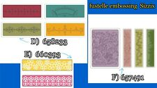 Fustelle embossing per scrapbooking, SIZZIX 658233, 660393, 657491, D-E-F, nuove