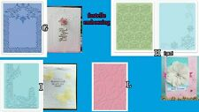 Fustelle embossing per scrapbooking, SIZZIX 656989, 658628, 658483, Cart-Us GHIL