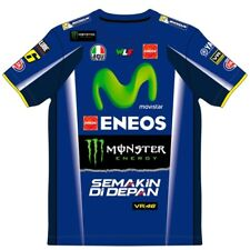 VR46 Valentino Rossi Dual Yamaha Factory Team Moto GP Mens T-shirt - Blue