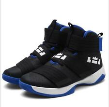 Mens Boys High Tops Casual Lace Up Sports Basketball Shoes Running Gym Trainers