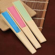 Chinese Hand Held Fan Bamboo Silk Folding Fan Wedding Deco Bamboo Party Paper.