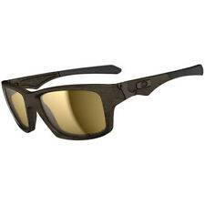 Oakley Jupiter Squared Polarised Mens Sunglasses - Woodgrain ~ Tungsten Iridium
