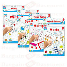 Educational Wipe Clean Books A4 A5 Write Spell Maths Multiply Handwriting Learn