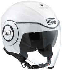 CASCO JET AGV FLUID CITY MONO PEARL WHITE MOTO SCOOTER
