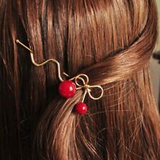 Bowknot Hairpin Cute Red Cherry Hair Clip Female Hairpin Barrette Hair Accessory