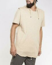 Mens Crooks and Castles Short Sleeved Pullover Hoodie - Khaki Beige - WAS £90