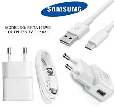 Original Samsung 2A EU Fast Mains Charger Adapter EP-TA10EWE & Data Cable White