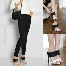 Womens Ladies Open-Toe Stiletto High Heels Sandals Fashion Casual Slippers Shoes