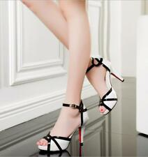 Sexy Ladies Ankle Strap Stiletto Peep Toe Buckle High Heels Sandals Comfy Shoes
