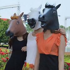 Brown Horse Head Mask Latex Animal Costume Prop Gangnam Party Halloween Funny