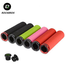 ROCKBROS Bike Bicycle Grips 1 Pair MTB BMX Soft Cycling Handlebar Lock On Grips